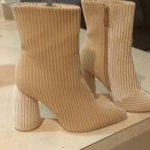 Tan/neutral color booties